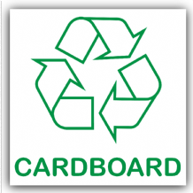 1 x Cardboard Recycling Self Adhesive Sticker-Recycle Logo Sign-Environment Label